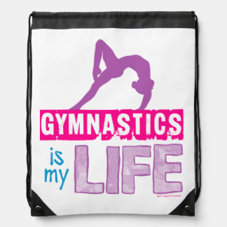 Gymnastics Is My Life Drawstring Bag