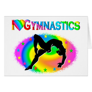 GYMNASTICS IS MY LIFE GREETING CARD