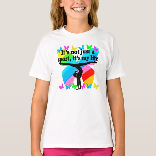 Gymnastics is my life rainbow design t shirt zazzle Gymnastics t shirt designs