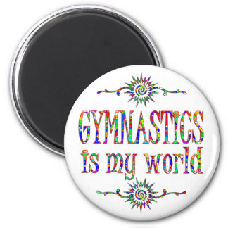 Gymnastics is My World Magnet