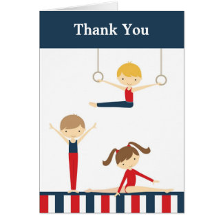 Gymnastics Kids Thank You Card