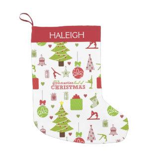 Gymnastics kind of Christmas w/ Monogram Small Christmas Stocking