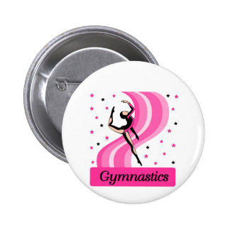 Gymnastics Leap 6 Cm Round Badge