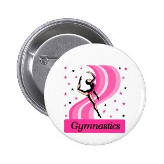 Gymnastics Leap 6 Cm Round Badge