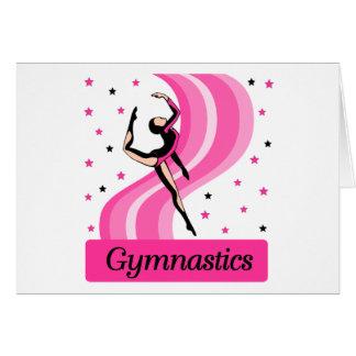 Gymnastics Leap Greeting Cards