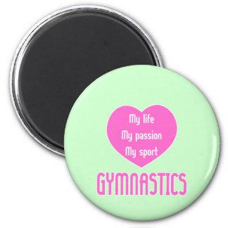Gymnastics Life Passion Sport Fridge Magnet