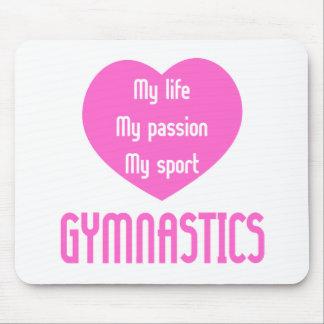 Gymnastics Life Passion Sport Mouse Pads