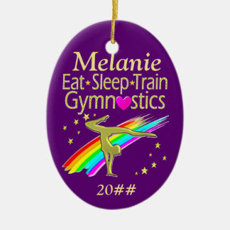 GYMNASTICS LIFE PERSONALIZED ORNAMENT
