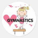 GYMNASTICS - Love Gymnastics Tshirts and Gifts Round Sticker