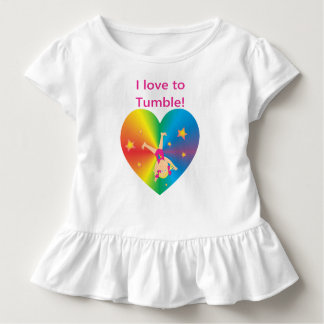 Gymnastics - Love to Tumble by Bella Toddler T-Shirt