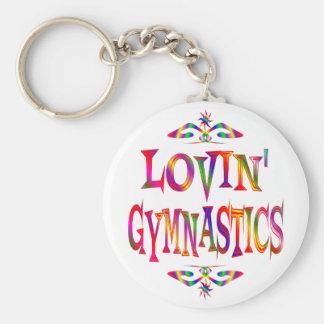 Gymnastics Lover Keychain