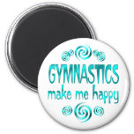 Gymnastics Make Me Happy Fridge Magnets
