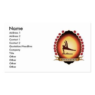 Gymnastics Mandorla Business Cards