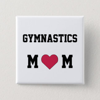 Gymnastics Mom 15 Cm Square Badge