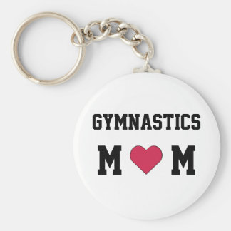 Gymnastics Mom Basic Round Button Key Ring