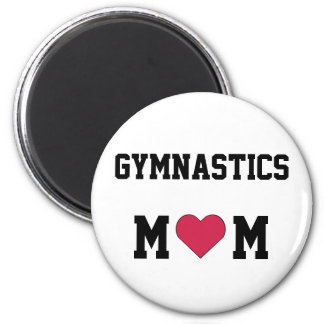 Gymnastics Mom 6 Cm Round Magnet