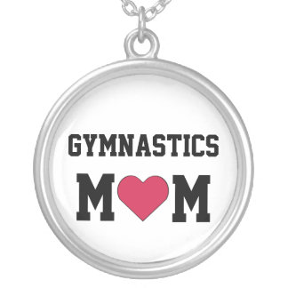 Gymnastics Mom Silver Plated Necklace