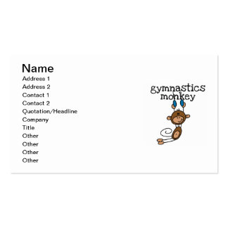 Gymnastics Monkey Pack Of Standard Business Cards