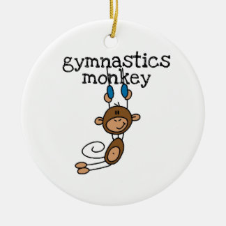 Gymnastics Monkey Christmas Ornament