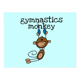 Gymnastics Monkey Postcard