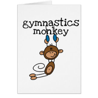Gymnastics Monkey Tshirts and Gifts Card
