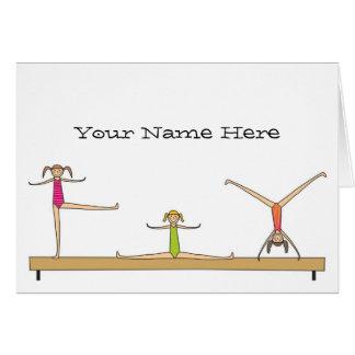 Gymnastics Notes Note Card