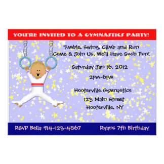 Gymnastics Party Announcement