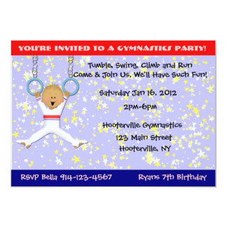 Gymnastics Party Card
