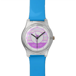 Gymnastics Pastel Horizontal Stripes w/ Monogram Watch
