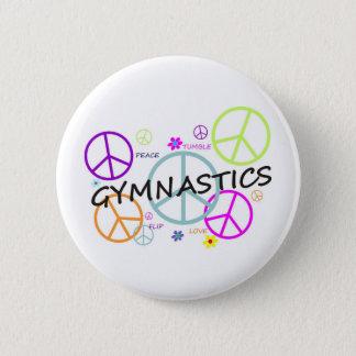 Gymnastics Peace Signs 6 Cm Round Badge