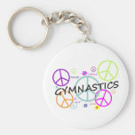 Gymnastics Peace Signs Basic Round Button Key Ring