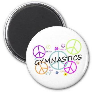 Gymnastics Peace Signs Magnet
