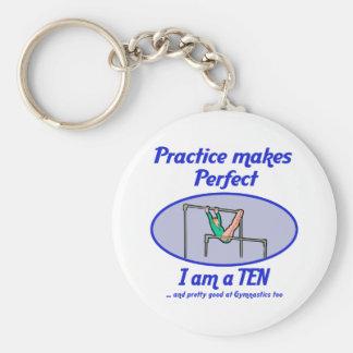 Gymnastics Perfect 10 Key Chain