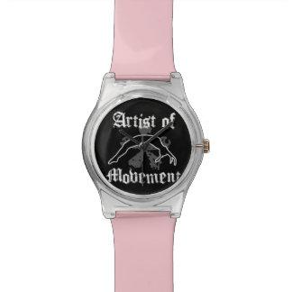 gymnastics pink wrist watch