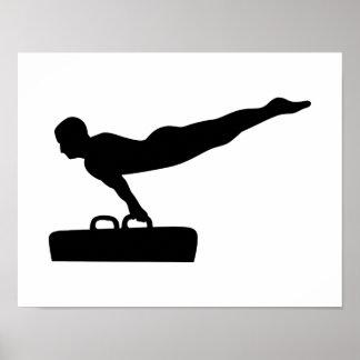 Gymnastics pommel horse poster