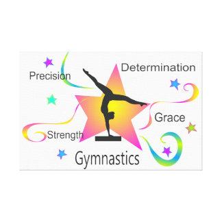 Gymnastics - Precision Strength Determination Grac Canvas Print