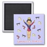 Gymnastics Princess Refrigerator Magnet