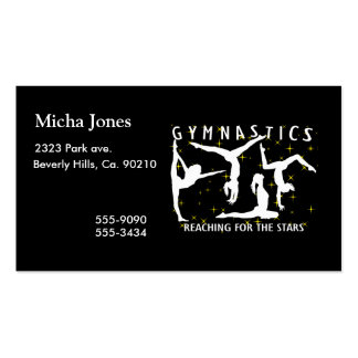 Gymnastics Reaching For The Stars Pack Of Standard Business Cards
