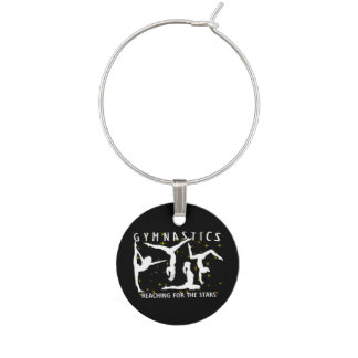 Gymnastics Reaching For The Stars Wine Charms
