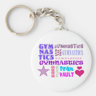 Gymnastics Repeating Key Ring