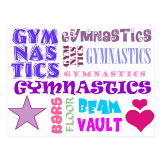 Gymnastics Repeating Postcard