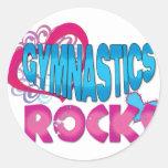 Gymnastics Rocks Gifts Classic Round Sticker