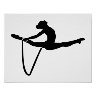 Gymnastics rope poster