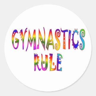 Gymnastics Rule Round Sticker