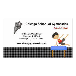 Gymnastics School (Black) Pack Of Standard Business Cards