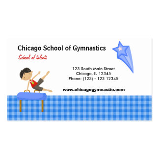 Gymnastics School (Blue) Business Cards