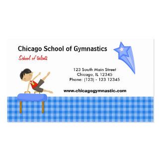 Gymnastics School (Blue) Pack Of Standard Business Cards
