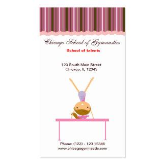 Gymnastics School Business Card Templates