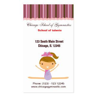 Gymnastics School Pack Of Standard Business Cards