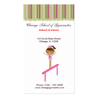 Gymnastics School Pack Of Standard Business Cards